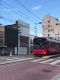 Osaka, Japon - 14 février 2017 : Tramway à Sumiyoshi Taisha S Image stock