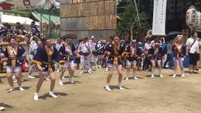Osaka, Japon - festival de Tenjin Matsuri banque de vidéos