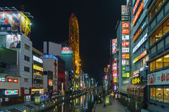 Osaka, Japon - 29 novembre 2015 : Nuit Dotonbori Une des taches de touristes célèbres à Osaka, le Japon Photo libre de droits