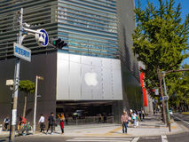 Osaka, Japon - 27 octobre 2014 : Apple Store chez Shinsaibashi dedans Image libre de droits