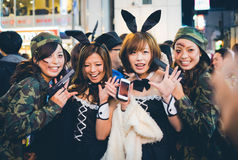 OSAKA, JAPON - 31 OCTOBRE 2015 : Rue d'achats de Dotonbori dans Osa Photos stock
