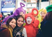OSAKA, JAPON - 31 OCTOBRE 2015 : Rue d'achats de Dotonbori dans Osa Images stock