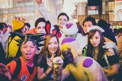 OSAKA, JAPON - 31 OCTOBRE 2015 : Rue d'achats de Dotonbori dans Osa Photographie stock libre de droits