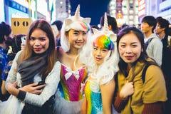 OSAKA, JAPON - 31 OCTOBRE 2015 : Rue d'achats de Dotonbori dans Osa Photos libres de droits