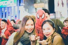 OSAKA, JAPON - 31 OCTOBRE 2015 : Rue d'achats de Dotonbori dans Osa Image stock