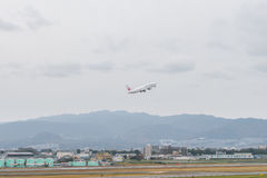 OSAKA JAPONIA, Grudzień, - 6, 2015: Kansai lotnisko międzynarodowe w Obrazy Stock