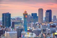 Osaka, Japonia linia horyzontu zdjęcie stock