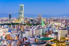 Osaka, Japonia linia horyzontu Fotografia Stock