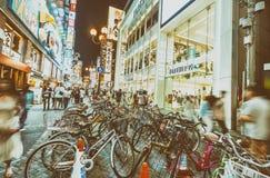 OSAKA JAPONIA, MAJ, - 28, 2016: Dotonbori okręg Osaka z bi Obraz Royalty Free