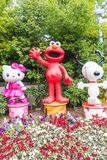 OSAKA JAPONIA, NOV, - 21 2016: Elmo, kiciunia i Snoopy w Halloween, Zdjęcie Royalty Free