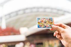 Osaka Japonia, NOV, - 21 2016: Nowy bilet universal studio Obraz Stock