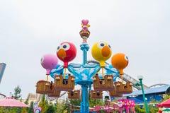 Osaka Japonia, NOV, - 21 2016: Parków tematycznych przyciągania opierający się dalej Obraz Royalty Free