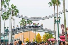 Osaka Japonia, NOV, - 21 2016: Parków tematycznych przyciągania opierający się dalej Obrazy Royalty Free