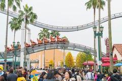 Osaka Japonia, NOV, - 21 2016: Parków tematycznych przyciągania opierający się dalej Fotografia Royalty Free