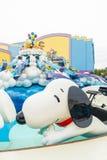 Osaka Japonia, NOV, - 21 2016: Parków tematycznych przyciągania opierający się dalej Zdjęcie Stock