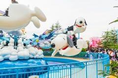 Osaka Japonia, NOV, - 21 2016: Parków tematycznych przyciągania opierający się dalej Zdjęcia Stock