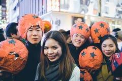 OSAKA JAPONIA, PAŹDZIERNIK, - 31 2015: Dotonbori zakupy ulica w Osie fotografia stock
