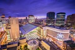 Osaka, Japonia staci linia horyzontu Zdjęcia Stock