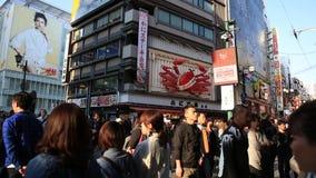 Osaka Kani Doraku-krab stock videobeelden