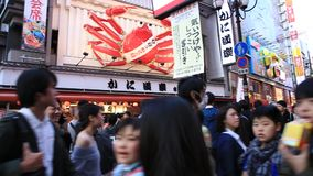 Osaka Kani Doraku-krab stock video