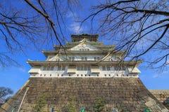 Osaka kasztel, Osaka, Japan fotografia royalty free