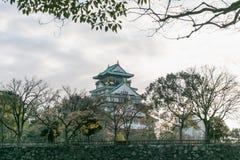 Osaka kasztel w Grudniu, Osaka, Japonia Fotografia Stock