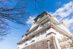 Osaka kasztel w Osaka, Japonia Fotografia Royalty Free