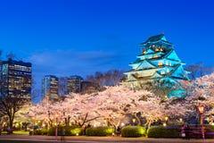 Osaka kasztel w wiośnie zdjęcia stock