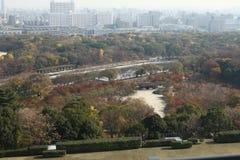 Osaka kasztelu park Zdjęcia Stock