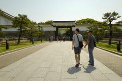 Osaka kasztelu park Osaka kasztel jest jeden Japan?s najwi?cej s?awnych punkt?w zwrotnych obraz royalty free