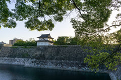 Osaka kasztelu zegarka wierza Fotografia Royalty Free