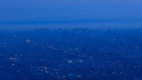 Osaka and Kobe at dusk, View from Shigi-Ikoma Skyline Stock Photo
