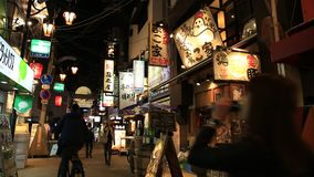 Osaka-Lebensmittel Signages stock video