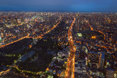 Osaka linia horyzontu i miasto zdjęcia royalty free