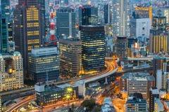 Osaka linia horyzontu Kansai, Japonia zdjęcie royalty free
