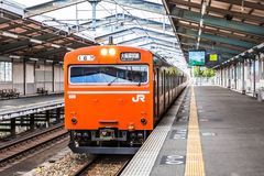 Osaka loop line train Royalty Free Stock Photography