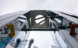Umeda Sky Building. Umeda Sky Building in Shin Umeda City, northwest of JR Osaka Station. It consists of two 40-storey buildings connected with Floating Garden Royalty Free Stock Images