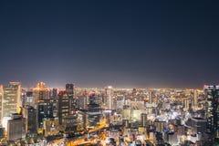 Osaka-Nachtansicht in Japan Lizenzfreie Stockfotos