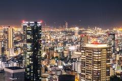 Osaka-Nachtansicht in Japan Lizenzfreie Stockbilder