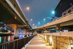 Osaka nadrzeczna chodząca ścieżka obraz stock