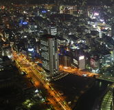 Osaka at night royalty free stock photography
