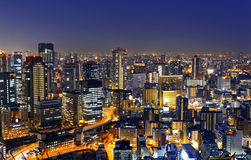 Osaka at night, Japan Stock Photo