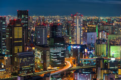 Osaka at Night Royalty Free Stock Photos