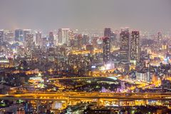 Osaka night Royalty Free Stock Photography