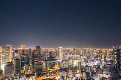 Osaka night view in Japan Royalty Free Stock Photos
