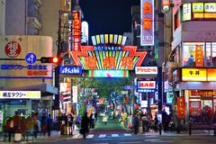 Osaka Nightlife Arkivbild