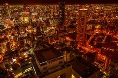 Osaka nightscape Japan Royaltyfri Foto
