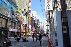 OSAKA, OCT - 23: Dotonbori na Październiku 23, 2012 w Osaka, Japonia. Obraz Stock
