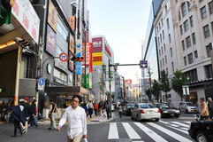OSAKA - OCT 23: Dotonbori street in Osaka, Japan. Royalty Free Stock Image