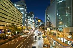 Osaka på natten Royaltyfri Bild
